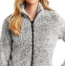 http://Grey%20Heather%20Port%20Authority®%20Ladies%20Cozy%20Fleece%20Jacket